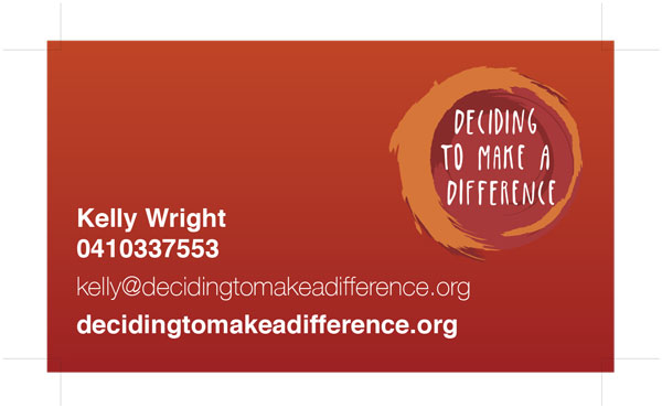 Kelly Wright DTMAD Founder