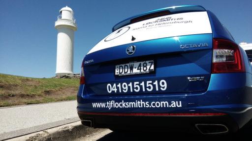 TJF Locksmiths vehicle Signage